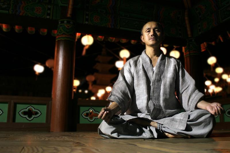 temple meditation monk Zen Meditation Monk